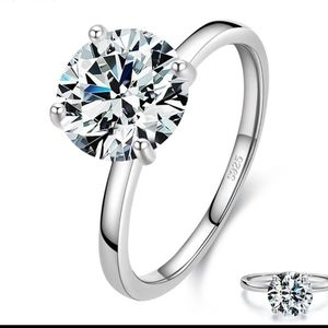 Classic Clear Engagement Ring S5